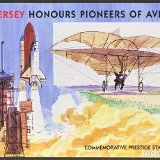 Sellos: [CF9029] JERSEY 2003, BOOK PIONEROS DE LA AVIACIÓN (UNC). Lote 81252916