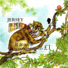Sellos: JERSEY 2004 YEAR OF THE MONKEY S/S, (MINT NH), NATURE - MONKEYS - VARIOUS - NEW YEAR. Lote 81556232