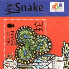 Sellos: ISLE OF MAN . 2001. NEW CHINESE YEAR OF THE SNAKE. NUEVO AÑO CHINO DE LA SERPIENTE,MNH. Lote 81557464