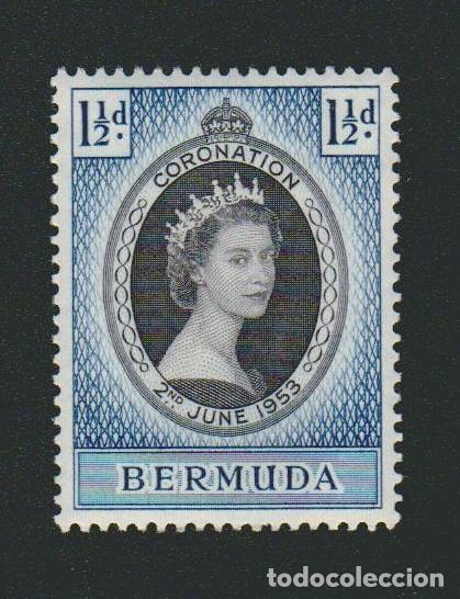 La Británicacoronación año BermudaColonia Isabel Reina Ii nuevo De 1953 CthQrds