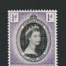 Sellos: FALKLAND ISLANDS DEPENDENCIES ( COLONIA BRITÁNICA ).CORONACIÓN DE LA REINA ISABEL II.AÑO 1953.NUEVO.. Lote 83156972