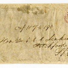 Sellos: INGLATERRA. 1815. ENVUELTA SIN CONTENIDO DE LONDRES A SHREWSBURY. RARO FRANQUEO FREE. PREFILATELIA.. Lote 85827792