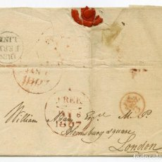 Sellos: GRAN BRETAÑA 1807.CARTA DE DUNFERMLINE (ESCOCIA) A LONDRES, MARCA FREE. RARA. SCOTLAND. PREFILATELIA. Lote 85828168