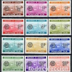 Sellos: GUERNESEY 1977/80 TASA IVERT 18/29 *** VISTAS DE GUERNESEY. Lote 90046776