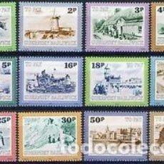 Sellos: GUERNESEY 1982 TASA IVERT 30/41 *** VISTAS DE GUERNESEY. Lote 90046972