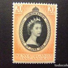 Sellos: KENYA OUGANDA TANGANYIKA 1953 CORONACIÓN REINA YVERT 88 *. Lote 91283435