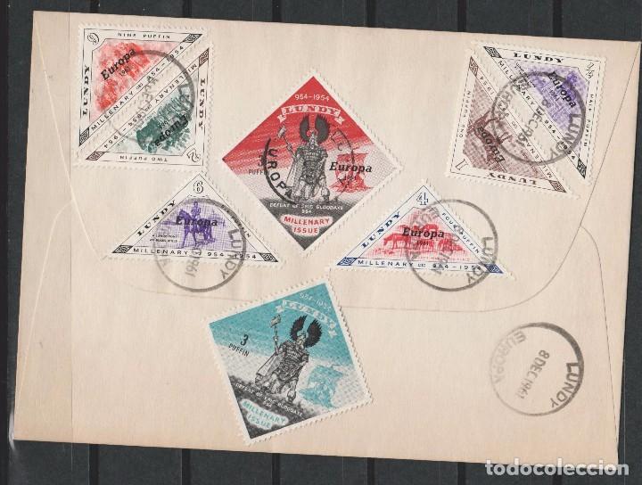 LOTE A SELLOS SOBRE LUNDY EUROPA CEPT 1961 (Sellos - Extranjero - Europa - Gran Bretaña)