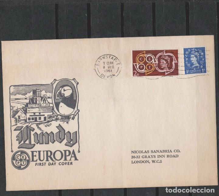 Sellos: LOTE A SELLOS SOBRE LUNDY EUROPA CEPT 1961 - Foto 2 - 96235775