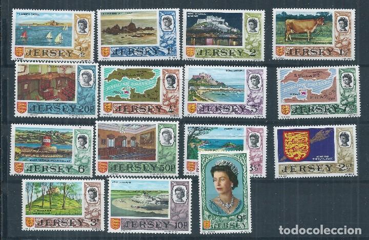 R17/ JERSEY 028/42 ** MNH, 1971 (Sellos - Extranjero - Europa - Gran Bretaña)