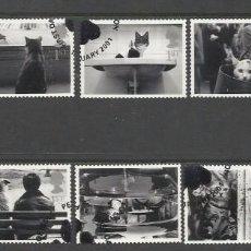 Sellos: GRAN BRETAÑA 2001 GATOS-PERROS CATS-DOGS SET DE 10V SG 2187-96 YV 2226-35. Lote 155715246