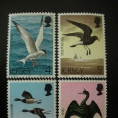 Sellos: JERSEY 1975 IVERT 117/20 *** AVES DEL MAR - FAUNA. Lote 99661563