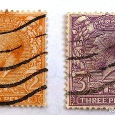 Sellos: SELLOS GRAN BRETAÑA 1912-1922. USADOS CON CHARNELA.. Lote 105884551