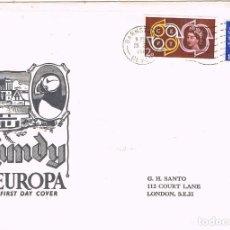 Sellos: 0431. CARTA BARNSTAPLE (DEVON) 1961. CORREO PRIVADO LUNDY, HOJITA EUROPA. Lote 105996391