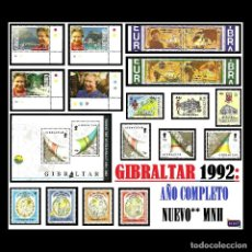 Sellos: GIBRALTAR 1992. AÑO COMPLETO (COMPLETE YEAR) NUEVO** MNH. Lote 109461367
