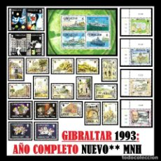 Sellos: GIBRALTAR 1993. AÑO COMPLETO (COMPLETE YEAR) NUEVO** MNH. Lote 109467107