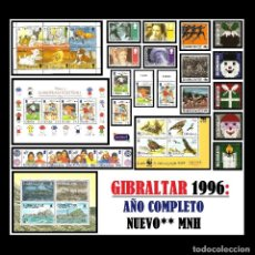 Sellos: GIBRALTAR 1996. AÑO COMPLETO (COMPLETE YEAR) NUEVO** MNH. Lote 109494907
