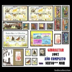 Sellos: GIBRALTAR 1997. AÑO COMPLETO (COMPLETE YEAR) NUEVO** MNH. Lote 109502963