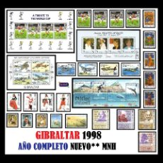 Sellos: GIBRALTAR 1998. AÑO COMPLETO (COMPLETE YEAR) NUEVO** MNH. Lote 109505559