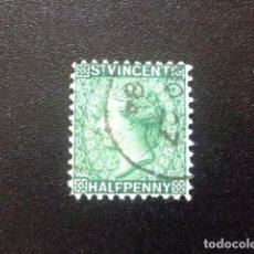 Sellos: ST. VINCENT SAINT -VINCENT 1883 REINE VICTORIA YVERT 27 º FU DENT 12. Lote 114260395