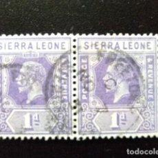 Sellos: SIERRA LEONE 1921 GEORGE V YVERT 109 FU SG 132 FU. Lote 117062735