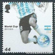 Francobolli: GRAN BRETAÑA 2006 COPA MUNDIAL FUTBOL:ARGENTINA (1978, 1986) 44P SG 2630 YV 2764. Lote 118145675
