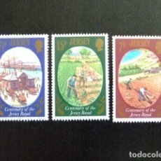 Sellos: JERSEY 1980 CENTENARIO DE LA PATATA JERSEY ROYAL YVERT 210 / 12 ** MNH. Lote 118589803