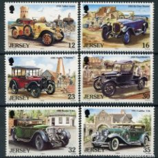Sellos: JERSEY 1989 IVERT 451/6 *** AUTOMOVILES ANTIGUOS - COCHES. Lote 121728371