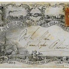 Sellos: OCEAN PENNY POSTAGE, VALENTINE DE DUNDEE CON 1P ROJO, 1855 APROX.. Lote 123066499