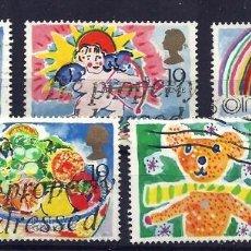 Sellos: YT 1367-71 GRAN BRETAÑA 1989 . Lote 147078568