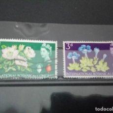 Sellos: INGLATERRA, 10 CONGRESO BOTÁNICO, 1964. Lote 126355991