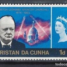 Sellos: TRISTAN DA CUNHA / COLONIA BRITÁNICA -SELLO NUEVO CON CHARNELA. Lote 128570891