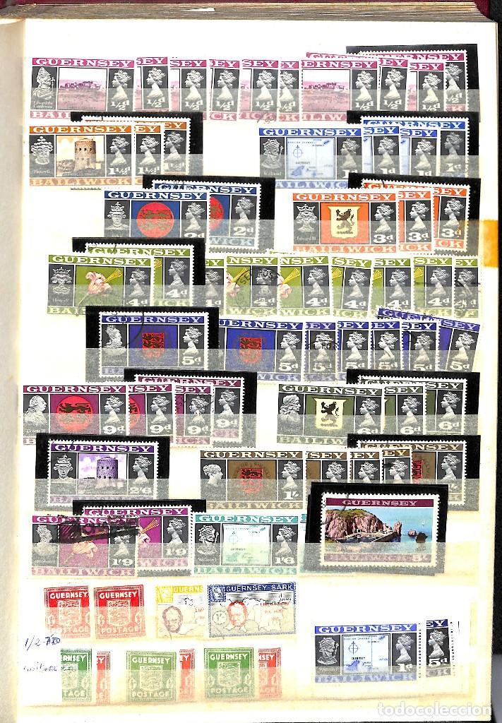 GUERNESEY, 1969-2000 LOTE DE SELLOS Y HOJAS BLOQUE EN NUEVO Y USADO, (Sellos - Extranjero - Europa - Gran Bretaña)