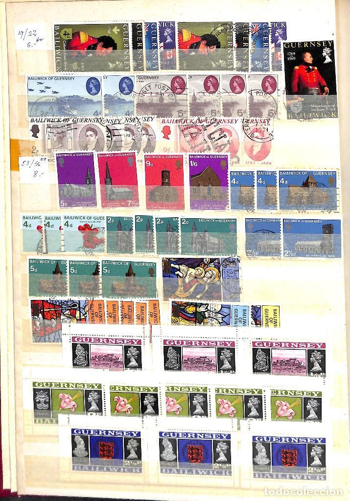 Sellos: GUERNESEY, 1969-2000 LOTE DE SELLOS Y HOJAS BLOQUE EN NUEVO Y USADO, - Foto 2 - 128746875