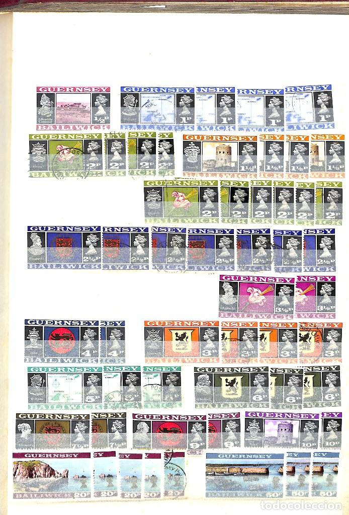 Sellos: GUERNESEY, 1969-2000 LOTE DE SELLOS Y HOJAS BLOQUE EN NUEVO Y USADO, - Foto 3 - 128746875