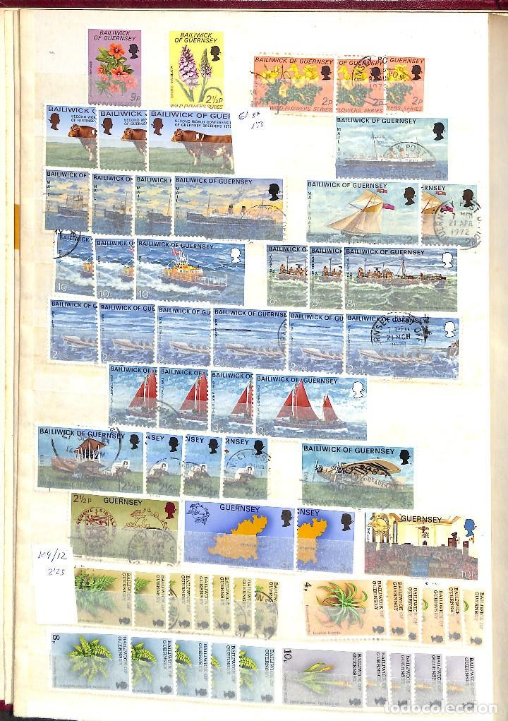 Sellos: GUERNESEY, 1969-2000 LOTE DE SELLOS Y HOJAS BLOQUE EN NUEVO Y USADO, - Foto 4 - 128746875