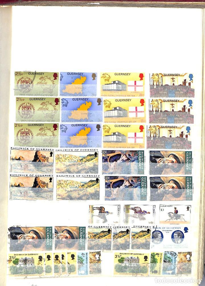 Sellos: GUERNESEY, 1969-2000 LOTE DE SELLOS Y HOJAS BLOQUE EN NUEVO Y USADO, - Foto 5 - 128746875