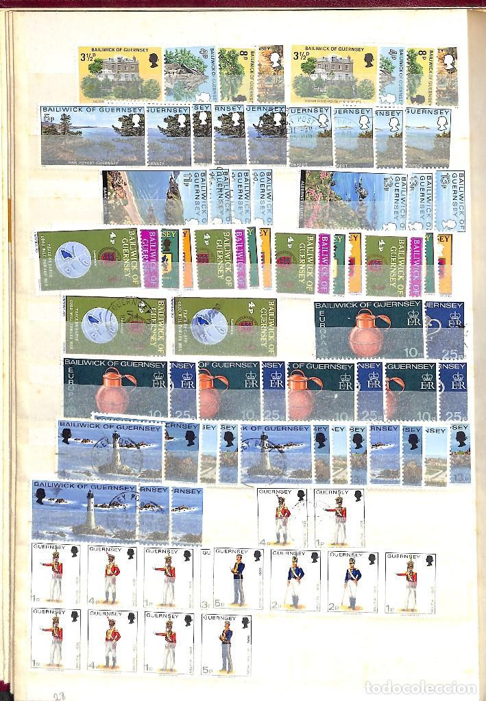 Sellos: GUERNESEY, 1969-2000 LOTE DE SELLOS Y HOJAS BLOQUE EN NUEVO Y USADO, - Foto 6 - 128746875