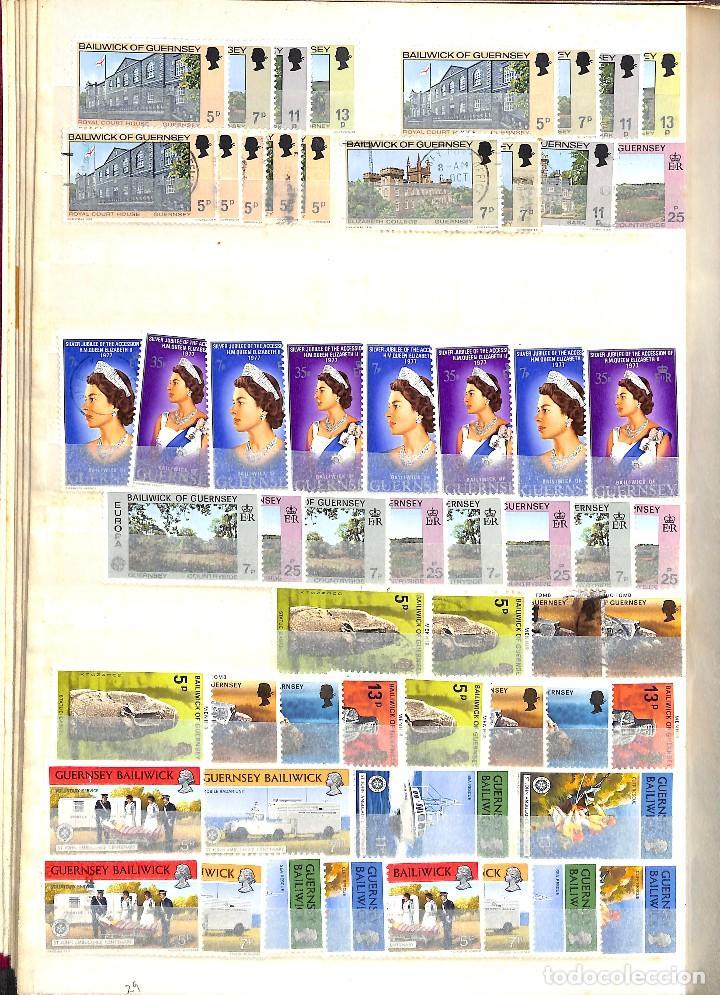 Sellos: GUERNESEY, 1969-2000 LOTE DE SELLOS Y HOJAS BLOQUE EN NUEVO Y USADO, - Foto 8 - 128746875