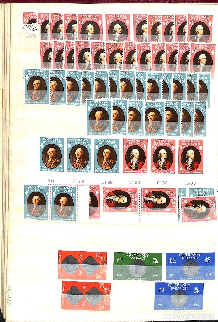 Sellos: GUERNESEY, 1969-2000 LOTE DE SELLOS Y HOJAS BLOQUE EN NUEVO Y USADO, - Foto 10 - 128746875