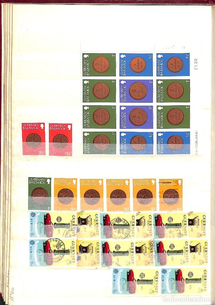 Sellos: GUERNESEY, 1969-2000 LOTE DE SELLOS Y HOJAS BLOQUE EN NUEVO Y USADO, - Foto 12 - 128746875
