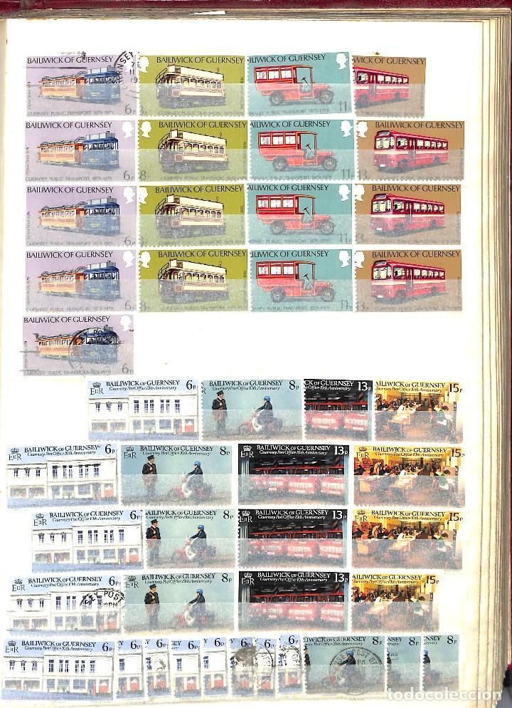 Sellos: GUERNESEY, 1969-2000 LOTE DE SELLOS Y HOJAS BLOQUE EN NUEVO Y USADO, - Foto 13 - 128746875