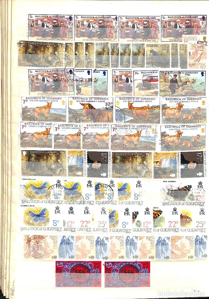 Sellos: GUERNESEY, 1969-2000 LOTE DE SELLOS Y HOJAS BLOQUE EN NUEVO Y USADO, - Foto 14 - 128746875