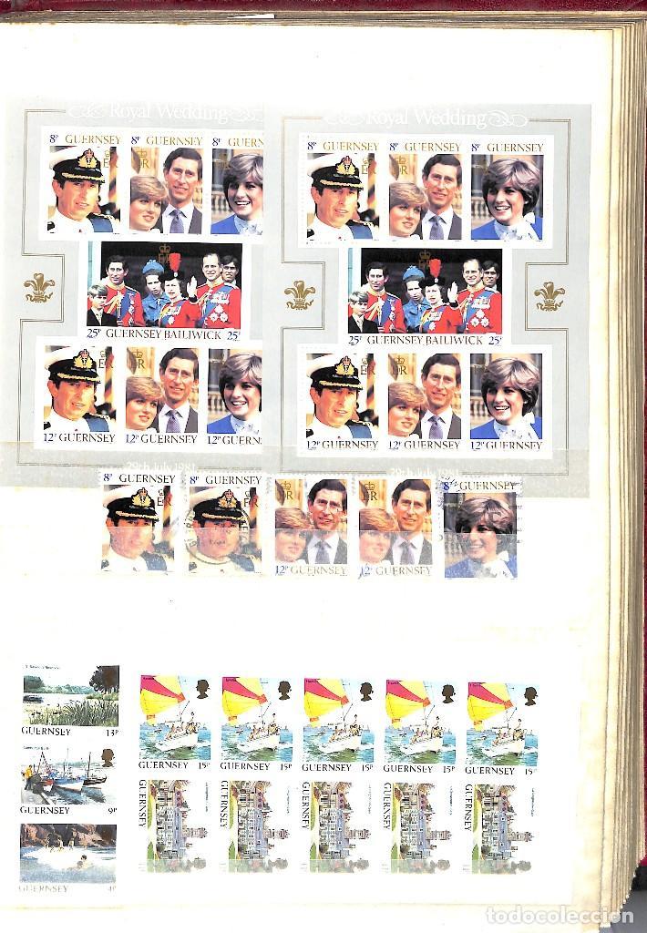 Sellos: GUERNESEY, 1969-2000 LOTE DE SELLOS Y HOJAS BLOQUE EN NUEVO Y USADO, - Foto 15 - 128746875