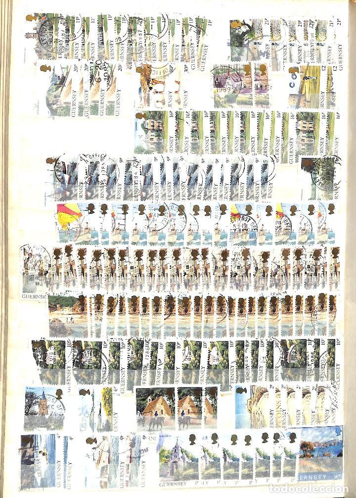 Sellos: GUERNESEY, 1969-2000 LOTE DE SELLOS Y HOJAS BLOQUE EN NUEVO Y USADO, - Foto 18 - 128746875