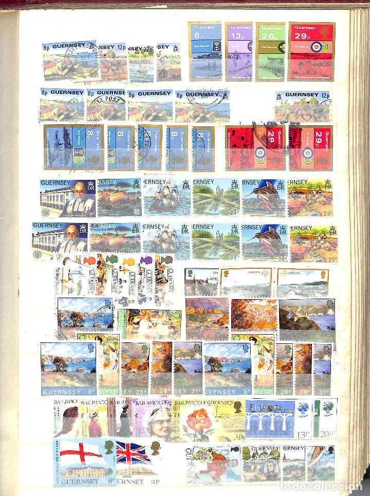 Sellos: GUERNESEY, 1969-2000 LOTE DE SELLOS Y HOJAS BLOQUE EN NUEVO Y USADO, - Foto 19 - 128746875