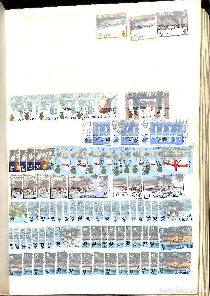 Sellos: GUERNESEY, 1969-2000 LOTE DE SELLOS Y HOJAS BLOQUE EN NUEVO Y USADO, - Foto 20 - 128746875