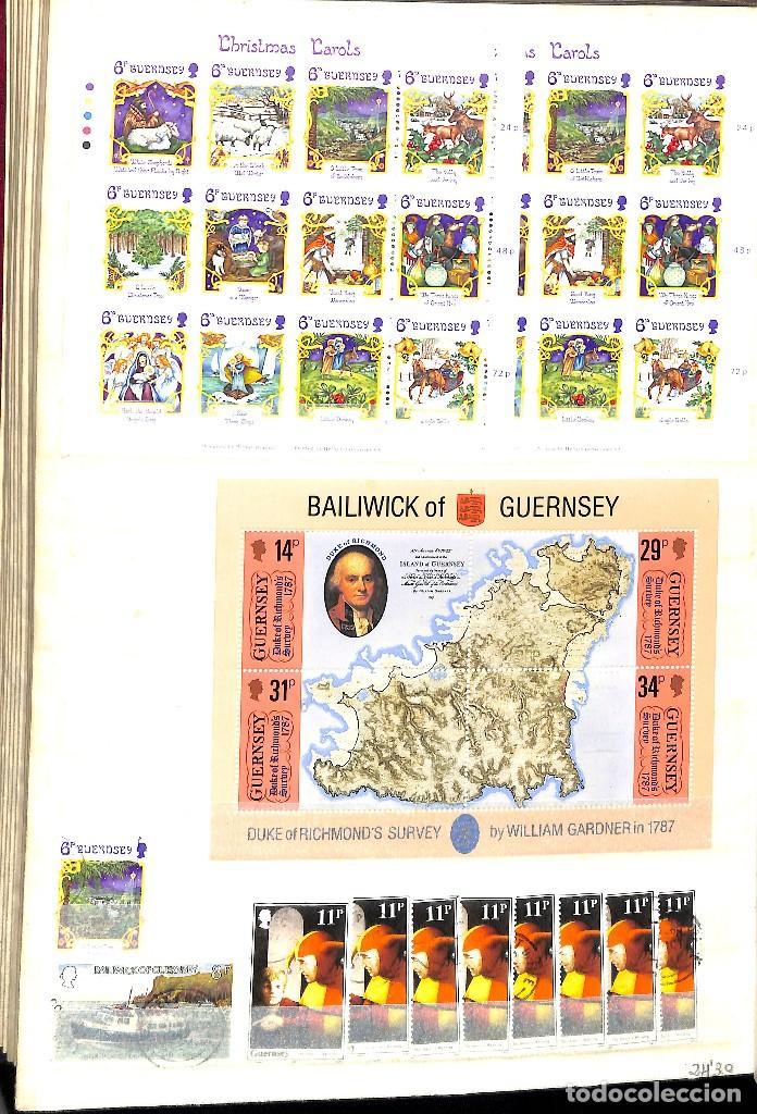Sellos: GUERNESEY, 1969-2000 LOTE DE SELLOS Y HOJAS BLOQUE EN NUEVO Y USADO, - Foto 22 - 128746875