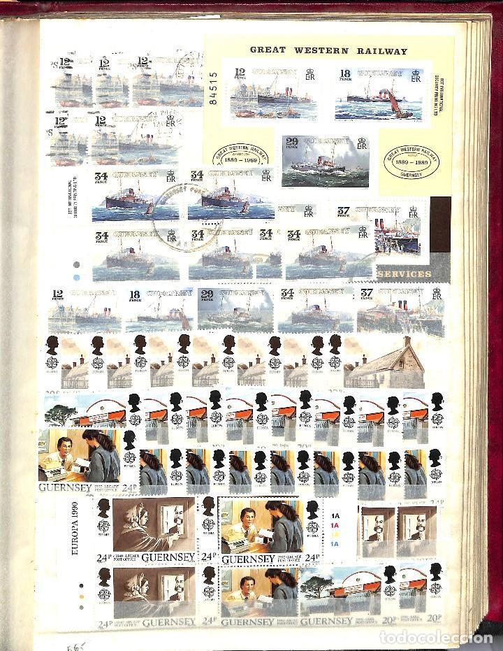 Sellos: GUERNESEY, 1969-2000 LOTE DE SELLOS Y HOJAS BLOQUE EN NUEVO Y USADO, - Foto 25 - 128746875