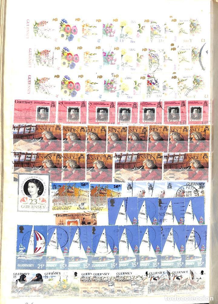 Sellos: GUERNESEY, 1969-2000 LOTE DE SELLOS Y HOJAS BLOQUE EN NUEVO Y USADO, - Foto 26 - 128746875