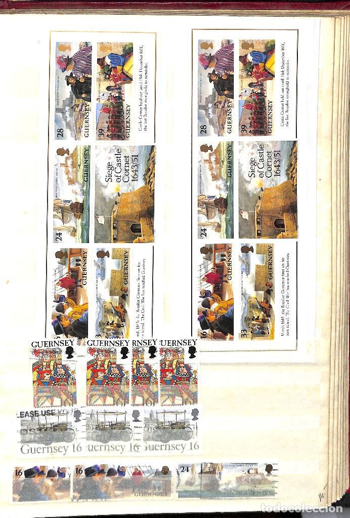 Sellos: GUERNESEY, 1969-2000 LOTE DE SELLOS Y HOJAS BLOQUE EN NUEVO Y USADO, - Foto 30 - 128746875